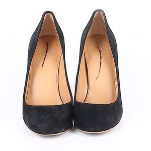 J. Crew Factory Oliva Black Suede Pumps